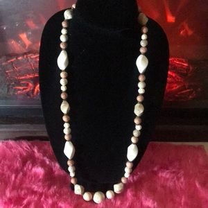 Vtg Marble & Stone Necklace